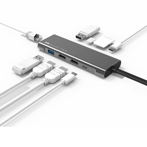 Portable  9 in 2  USB-C Hub